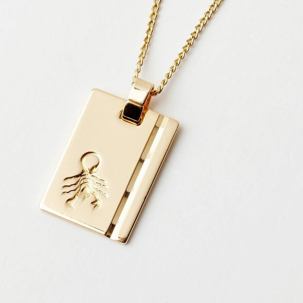 Scorpio Star Sign Pendant Necklace