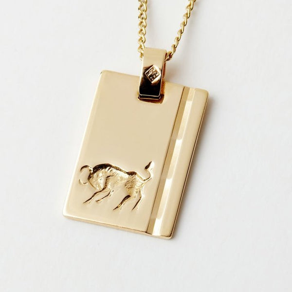 Taurus Star Sign Pendant Necklace