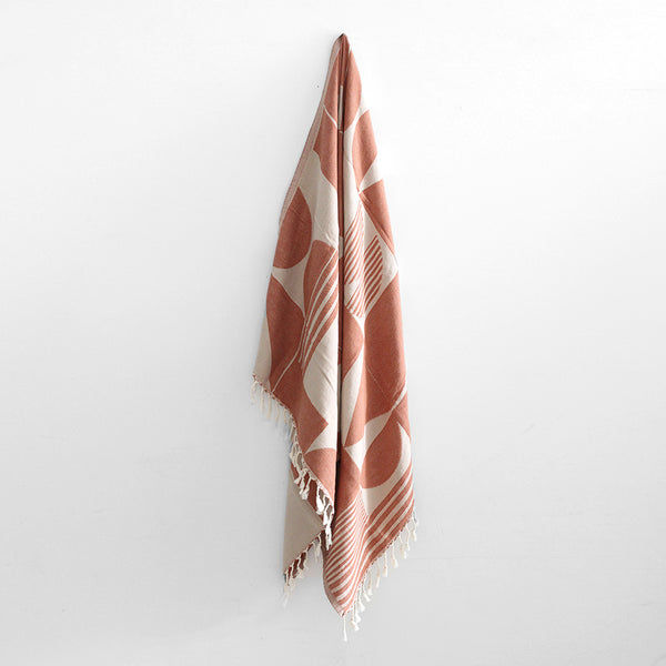 Zambak Beach Towel - Terracotta