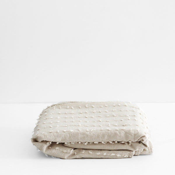 Shore Duvet Cover - Natural