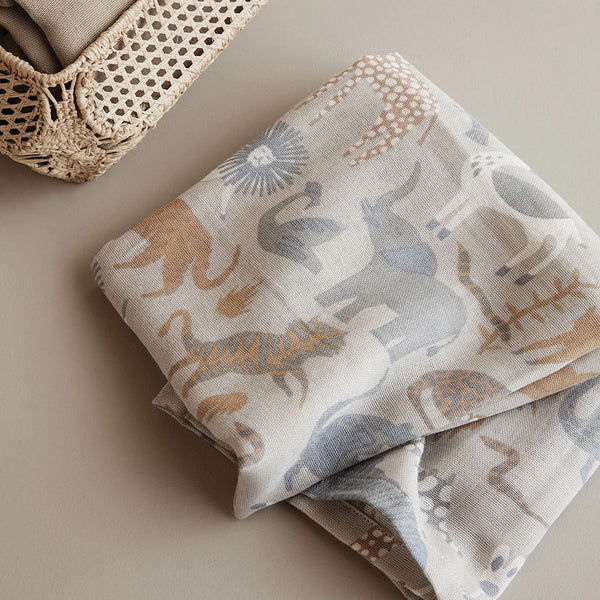 Safari Muslin Squares - set of 3