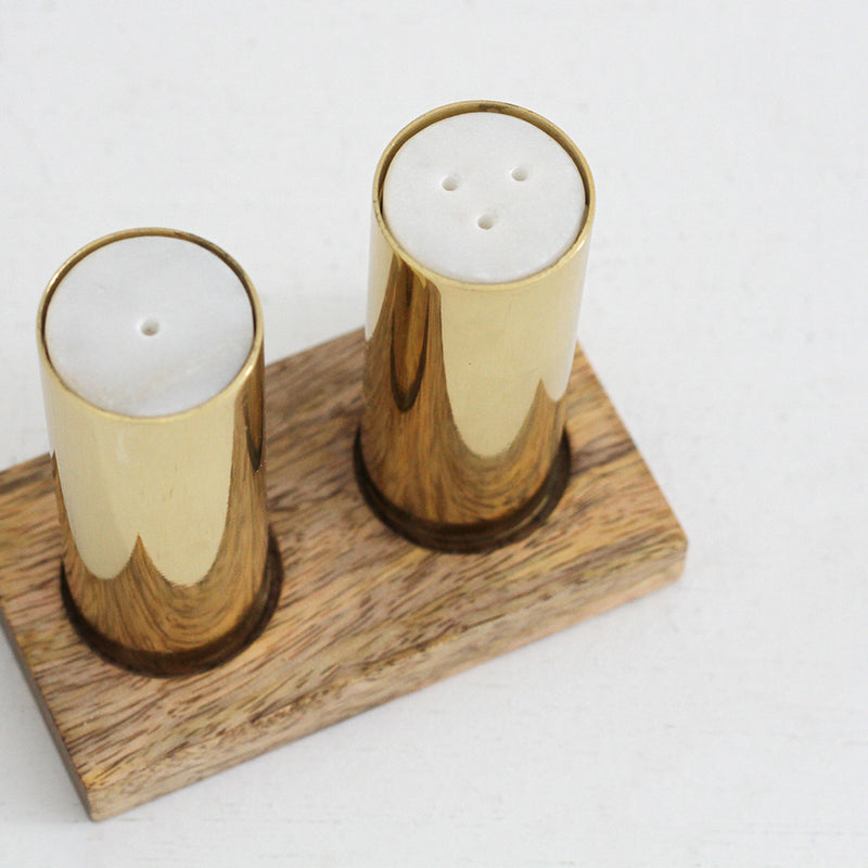 Salt and Pepper Shaker Stand - Brass