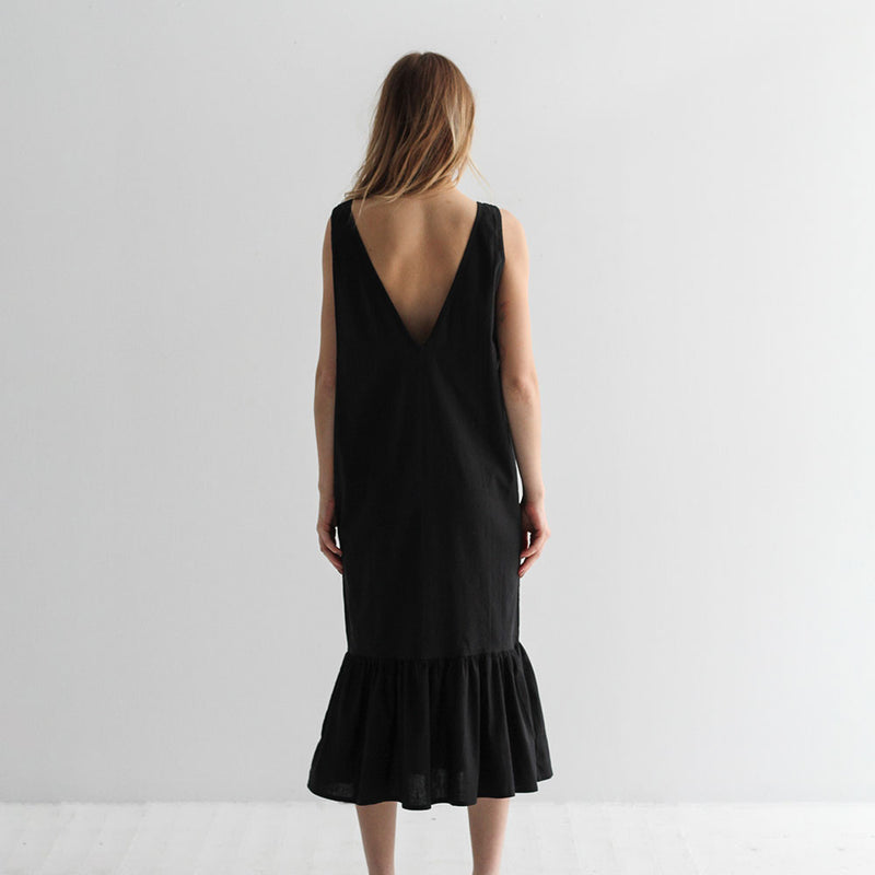 Sam V Back Dress - Black