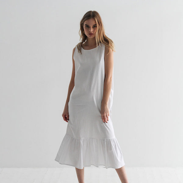 Sam V Back Dress - Off White