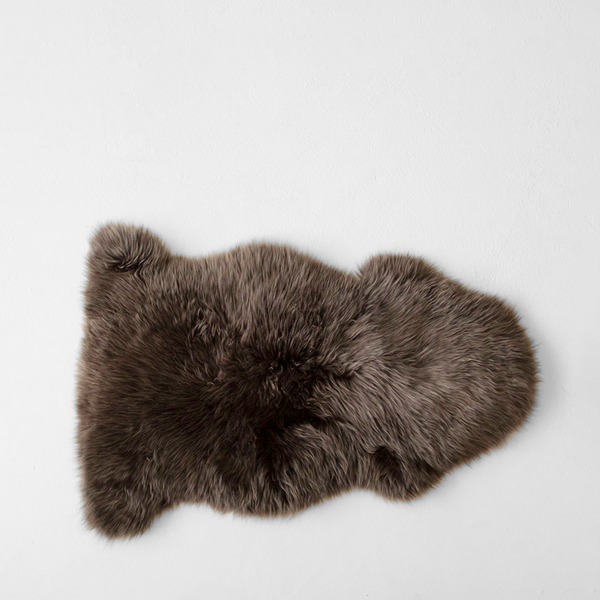 New Zealand Long Wool Sheepskin Rug - Walnut