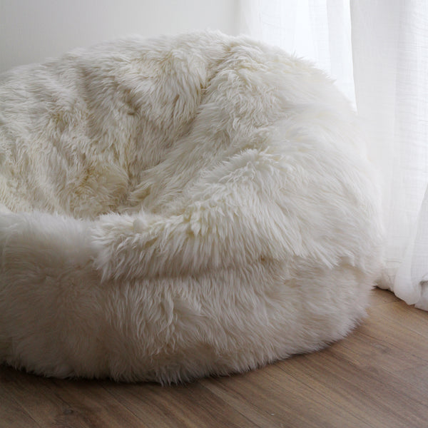 Sheepy Fur Beanbag - Ivory