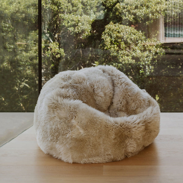 Sheepy Fur Beanbag - Natural Honey