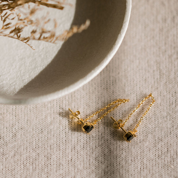 Miles Dropper Earrings - Gold