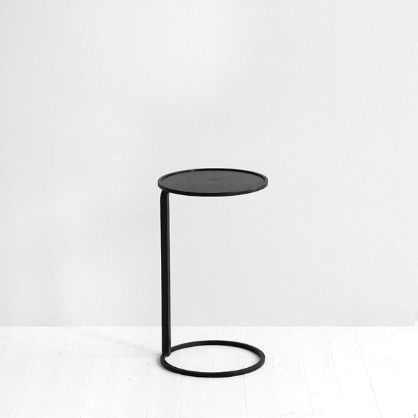 Small Circle Couch Side Table - Black