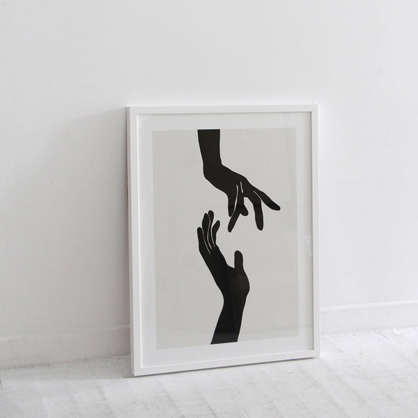 Abstract Hands Print by Nadja