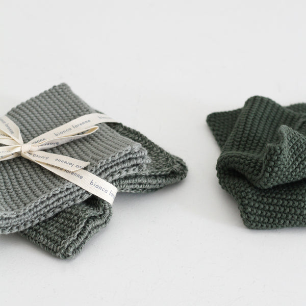 Soft Washer Cloths (Set 3) Sage
