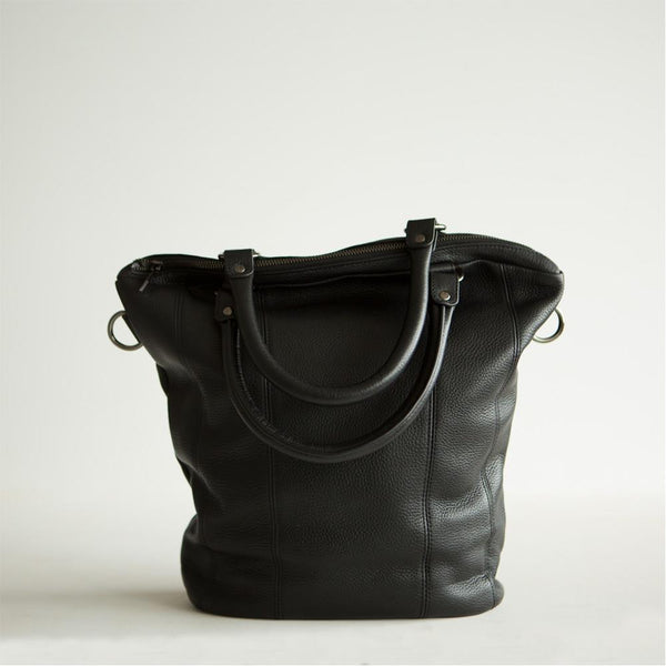 Some Secret Place Leather Bag - Black