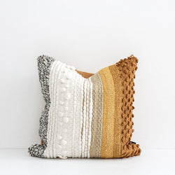 Songhai Cushion - Ochre/Multi