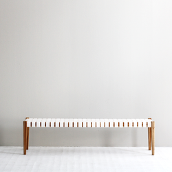 Spencer Bench Seat - White