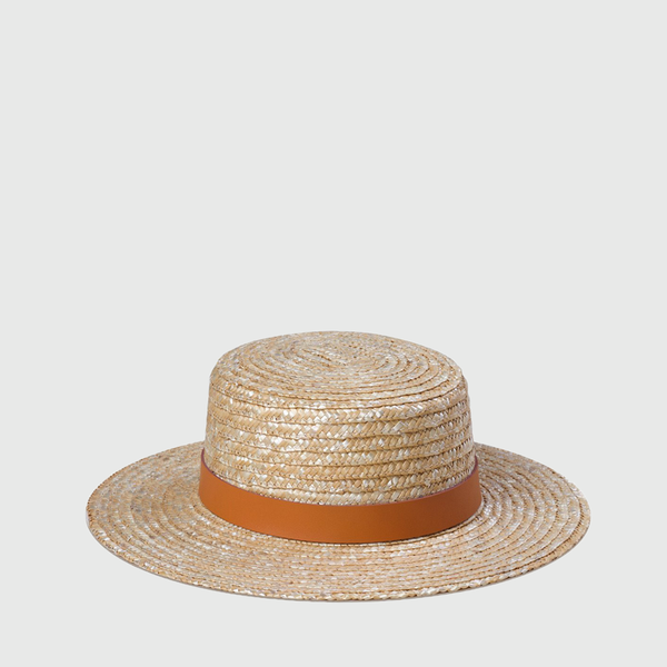 The Spencer Boater Hat - Terracotta
