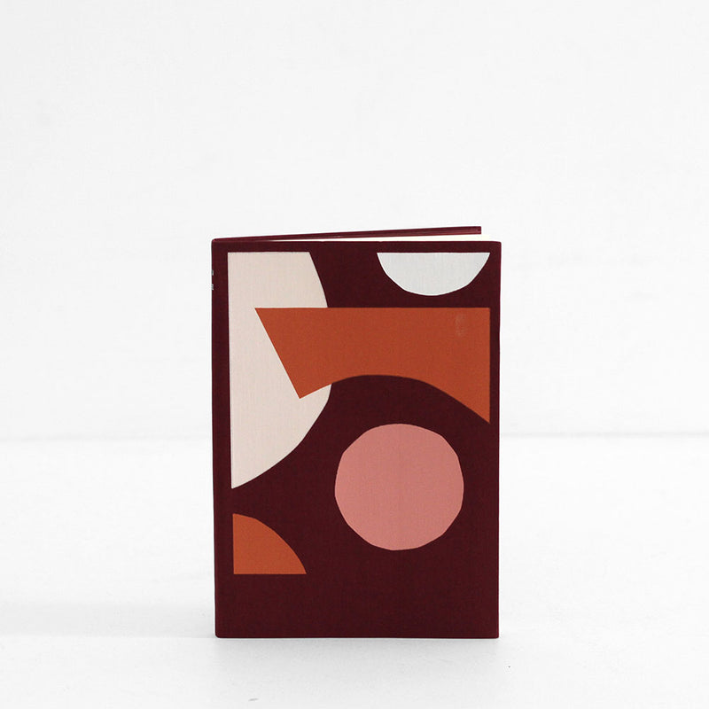 Spenceroni  Soft Cover Linen Notebook - A5 Ruled Burgundy