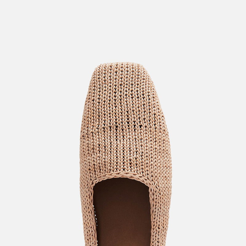 Mae Knit Loafer - Tan
