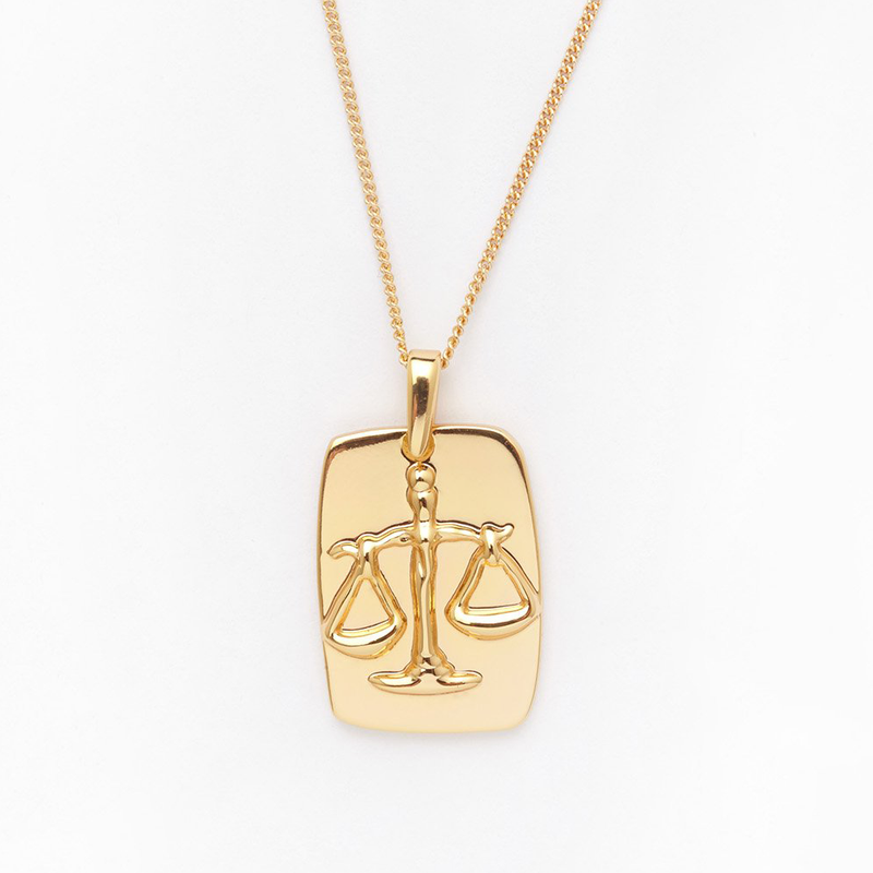 Libra Tag Necklace