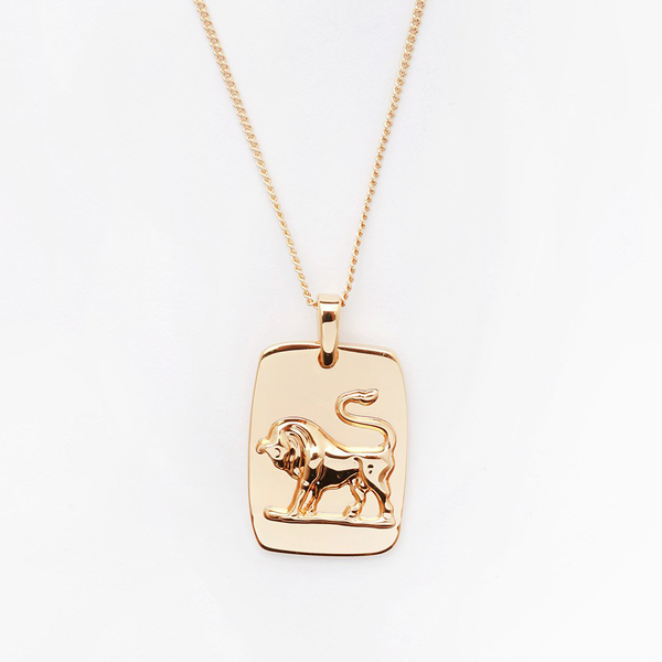 Taurus Tag Necklace