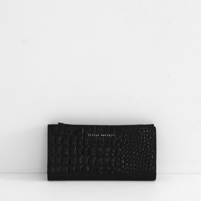 In The Beginning Wallet - Black Croc