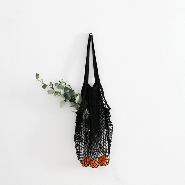 String Market Bag - Black