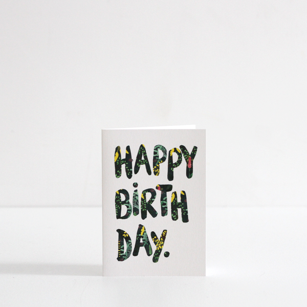 Summer Happy Birthday Card