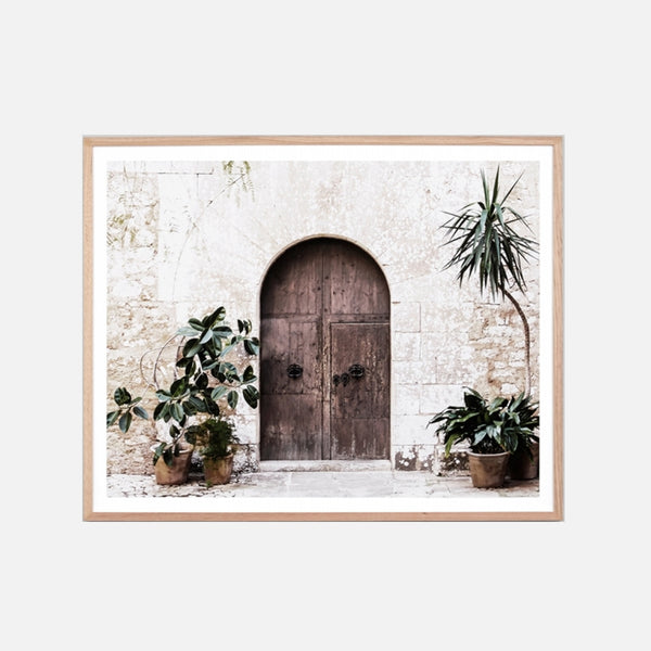 Villa Door Natural Framed Art