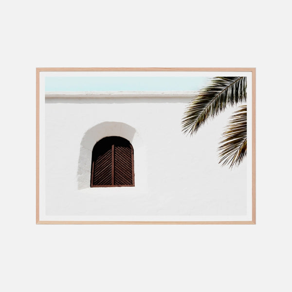 Villa Window Framed Art