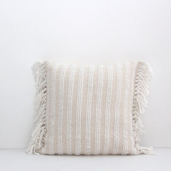 Wallis Cushion - White Natural