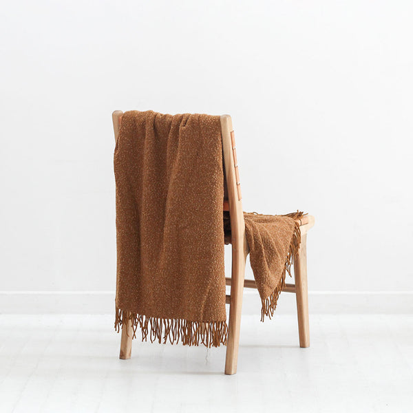 Wanaka Throw - Ochre