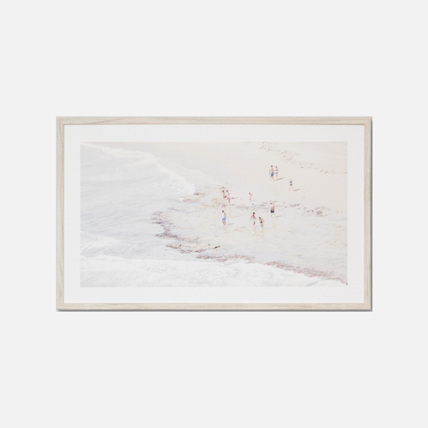 At The Seashore Framed Print