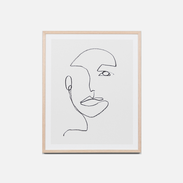 Linear Portrait Framed Art