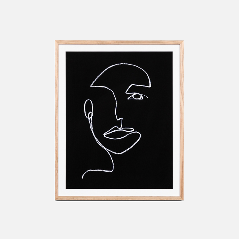 Linear Portrait - Night Framed Art