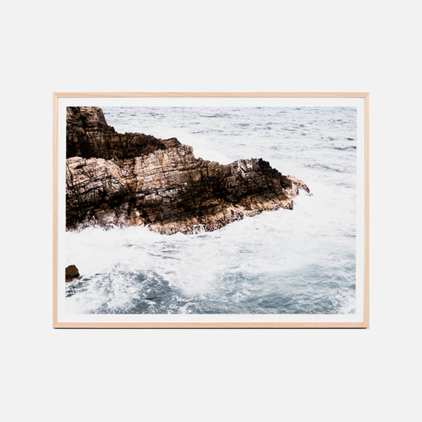 Stormy Waves Framed Art