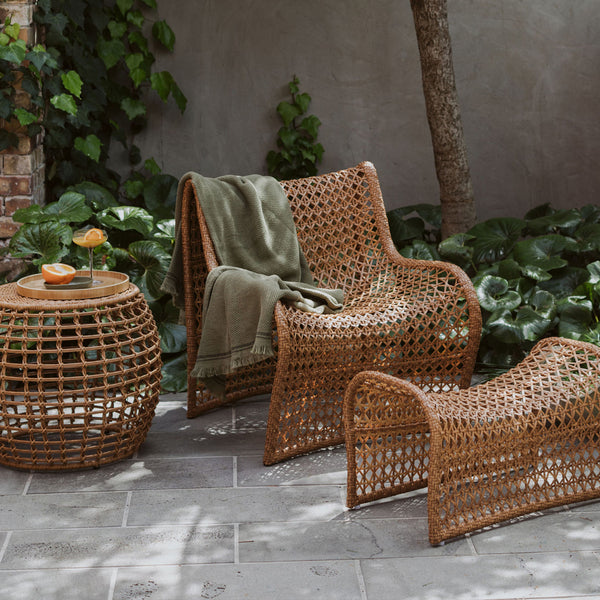 Wave Outdoor Chair - Dark Natural