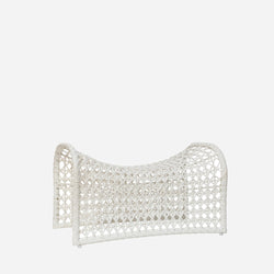 Wave Footstool - White