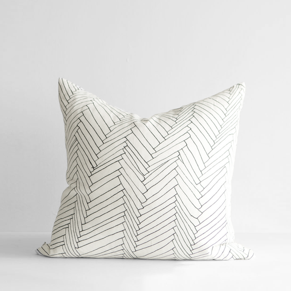 White Thatch Linen Large Cushion