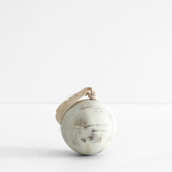 White Wooden Ball - Large