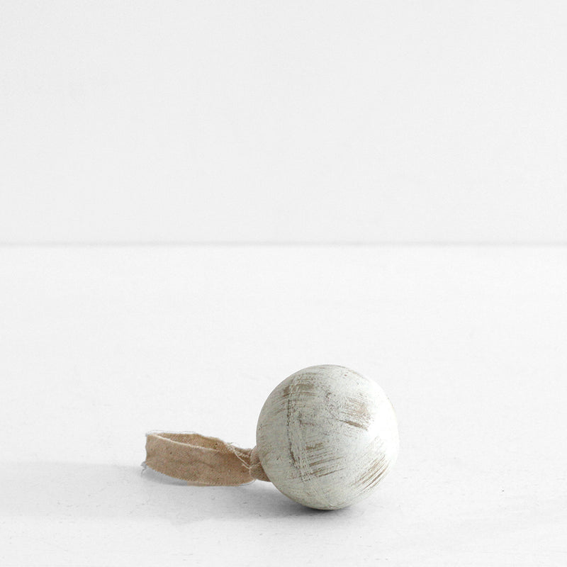 White Wooden Ball - Small