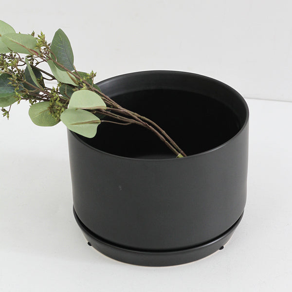Wide Oslo Planter - Black