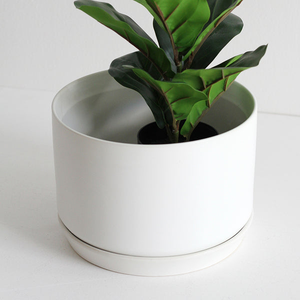 Wide Oslo Planter - White