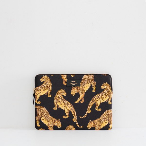 "Wouf Black Leopard 13"" Laptop Sleeve"