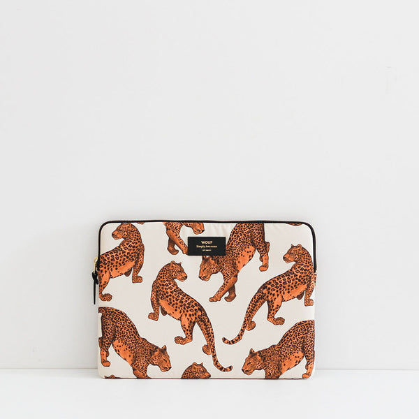 "Wouf Cream Leopard 13"" Laptop Sleeve"