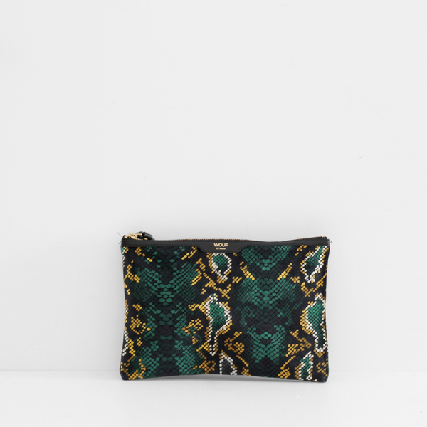 Wouf Snakeskin Night Clutch