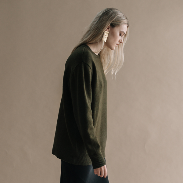 Zoe Oversized Sweater - Olive
