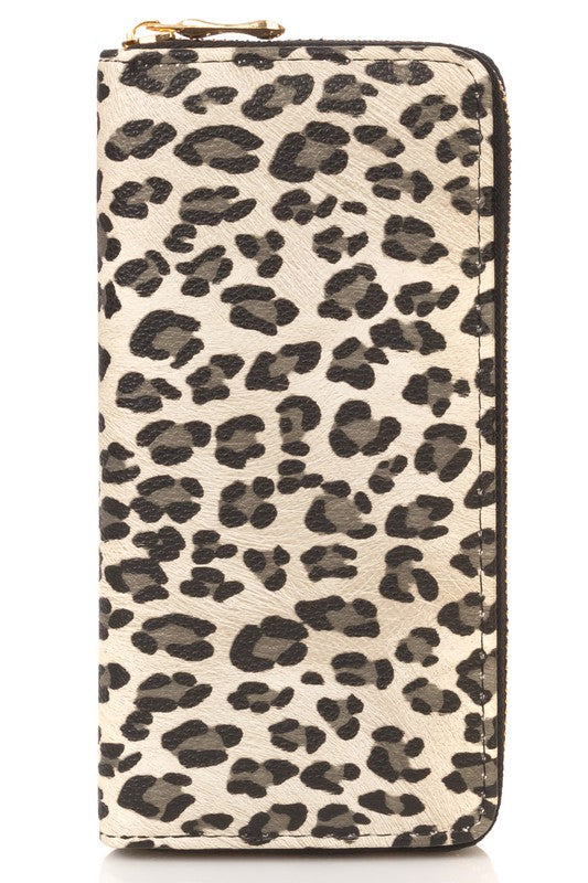 White Animal Print Wallet