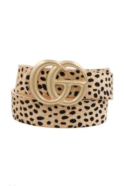 Inspire Me Belt - Brown Cheetah
