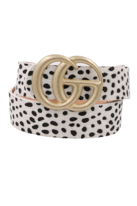 Inspire Me Belt - White Cheetah
