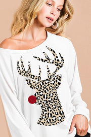 Rudolph In Animal Print Top