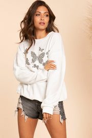 Butterfly Wings Sweatshirt - White
